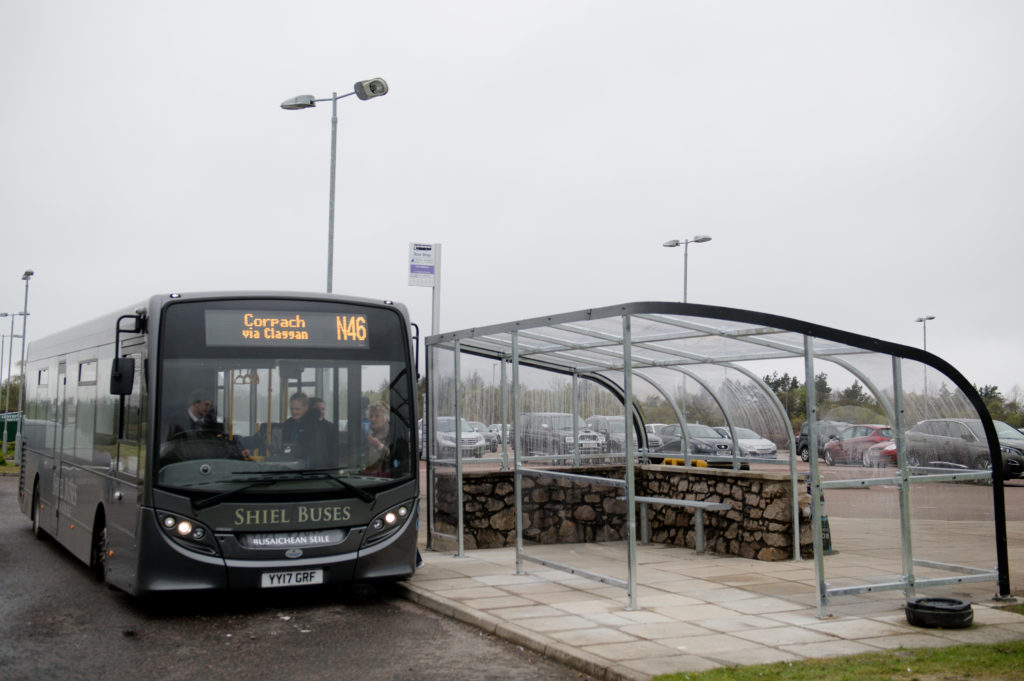 There are plans for a community minibus to make it easier for South Lochaber residents to link with bus services for Fort William, pictured. NO F09 bus in Fort William