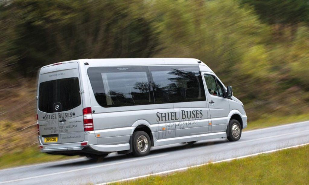 A Shiel Buses vehicle in Glen Nevis. NO F09 bus-in-glen-nevis_orig