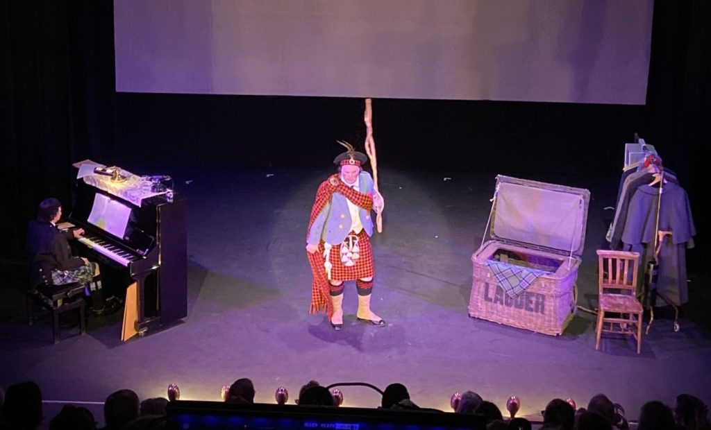 Jamie MacDougall held the Tron Theatre audience in the palm of his hand as he adopted the persona of Harry Lauder and took us through the remarkable life of the world's first global superstar.