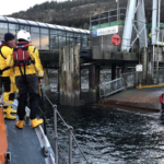 The volunteer crew quickly discovered the object was a partially deflated liferaft with nobody onboard.