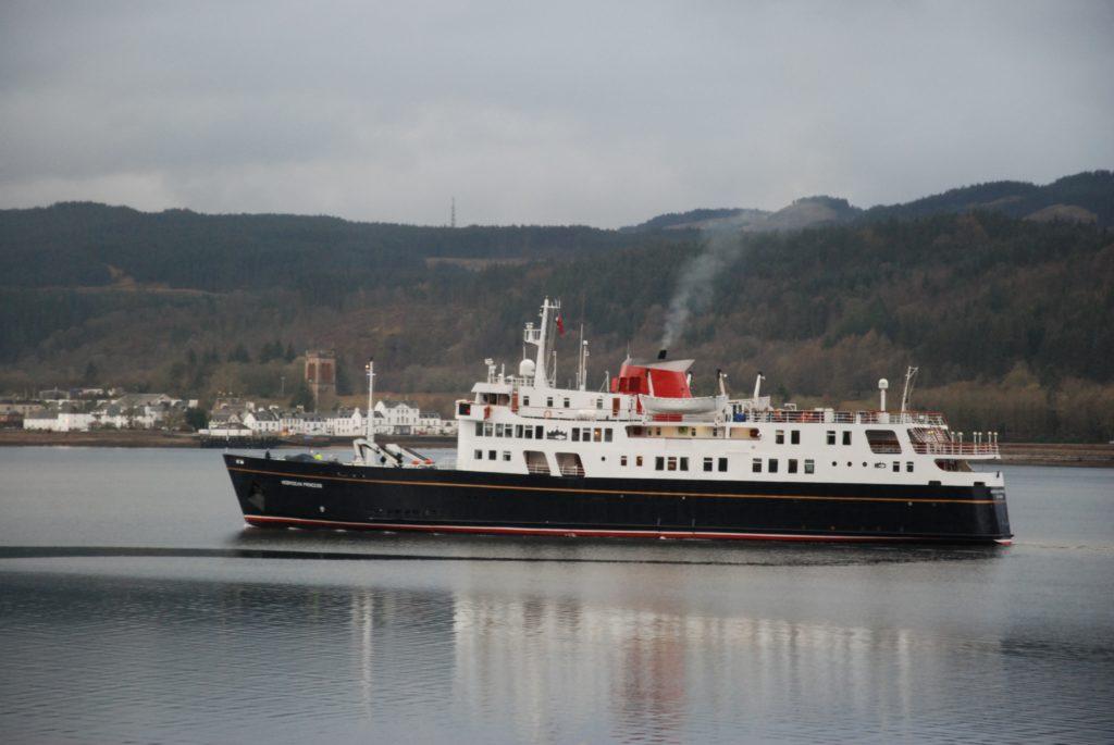 Hebridean Princess off Inveraray