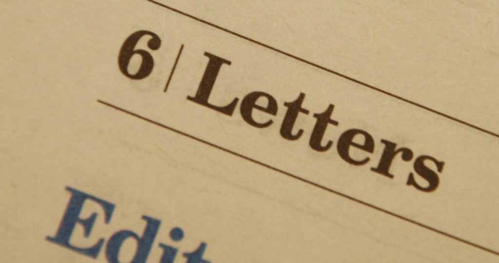 Letters to the editor – 19.03.20