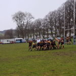Conditions at Moffat saw the teams agree the game should be halted after 70 minutes of play. NO F10 Moffat v Lochaber rugby