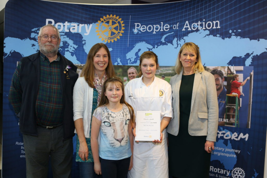 Ardnamurchan High's Helen wins at Rotary Young Chef of the Year