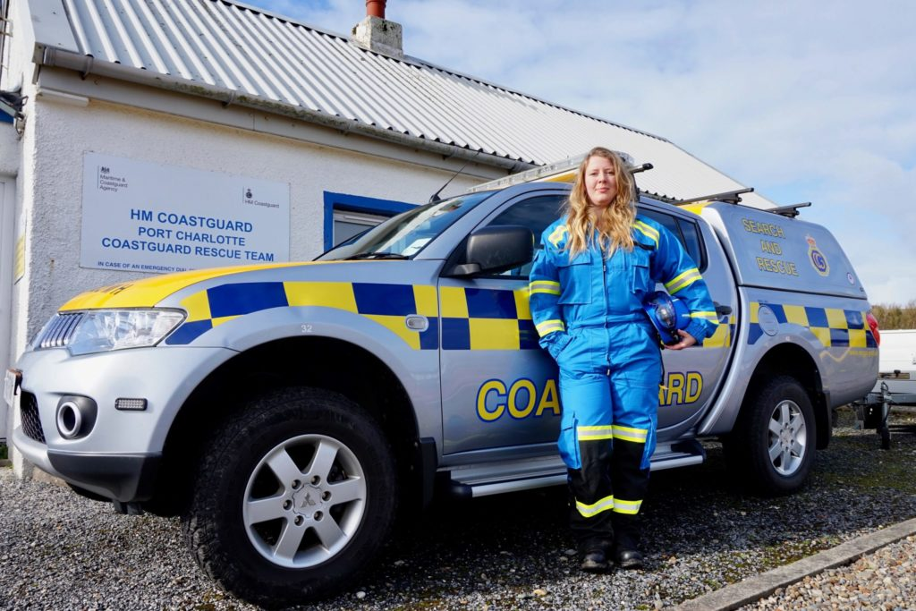 Islay Coastguard introduce first lady of rescue