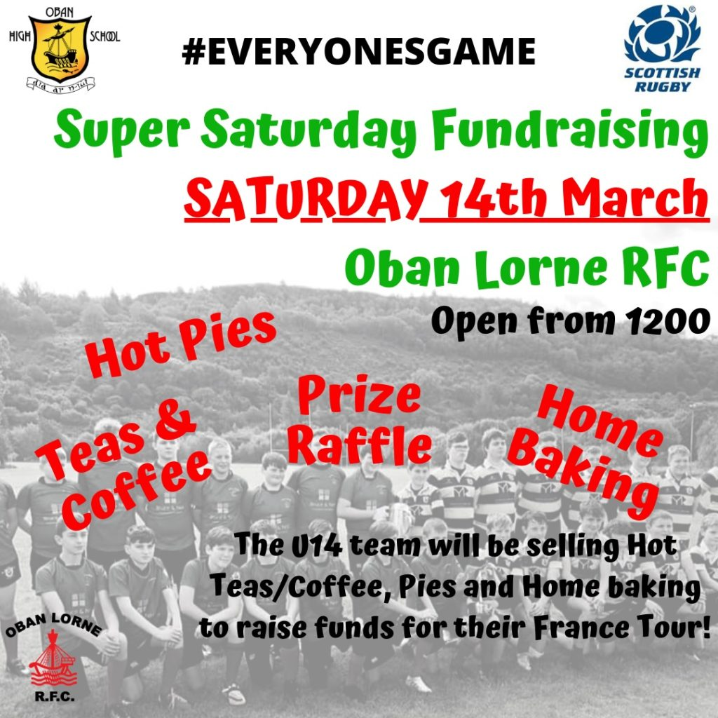 Under-14s set out their stall at Oban Lorne RFC