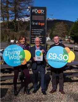 Real Food Cafe celebrates living wage commitment