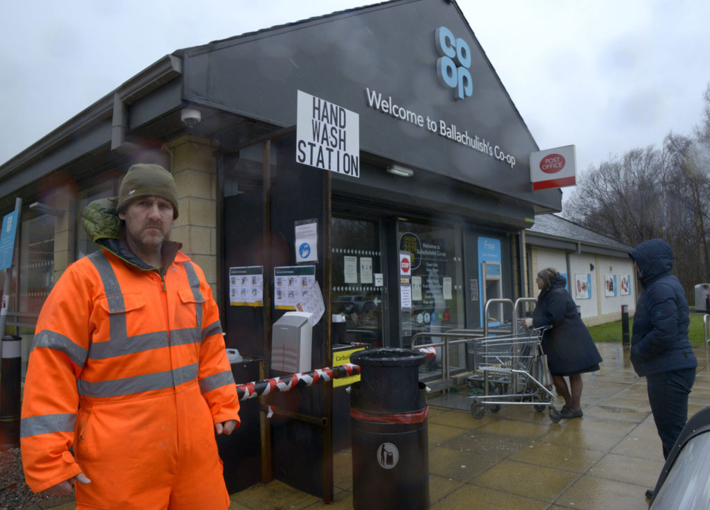 Ballachulish residents install handwashing station outside Co-op