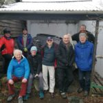 Pictured with the boat are helpers David Doogan, David Rounce (Museum Redevelopment Manager), Sandy Coldwell, Jon Ure, John Poolman, Bill Strachan, Ewan Smith and William Stewart. NO F14 GFM Coffin Boat