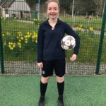 Charlotte Adam Prosser has her sights set on a career as a professional footballer. NO F15 Charlotte