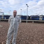 Stephen Roberts, ScotRail Train Presentation at Eastfield Depot. NO F15 ScotRail