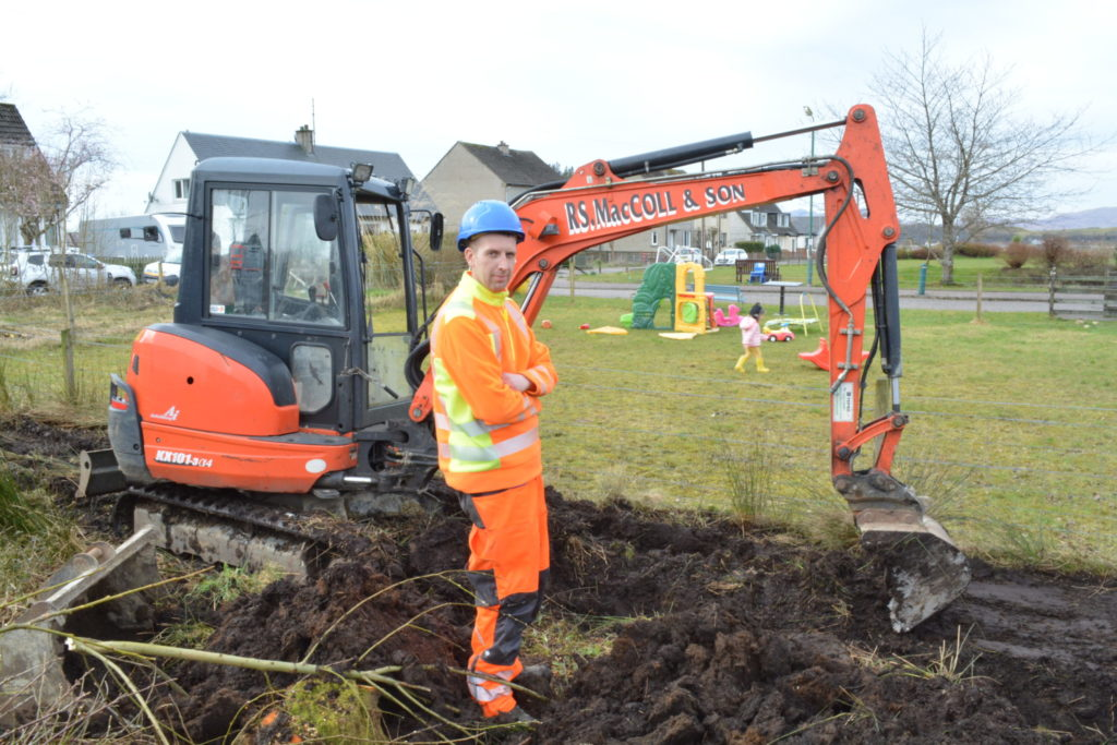 Appin business digs deep to save £40,000 village play park project