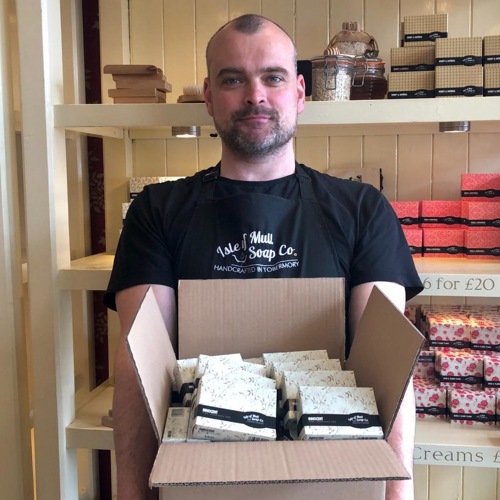 Mull soapmakers donate to nurses