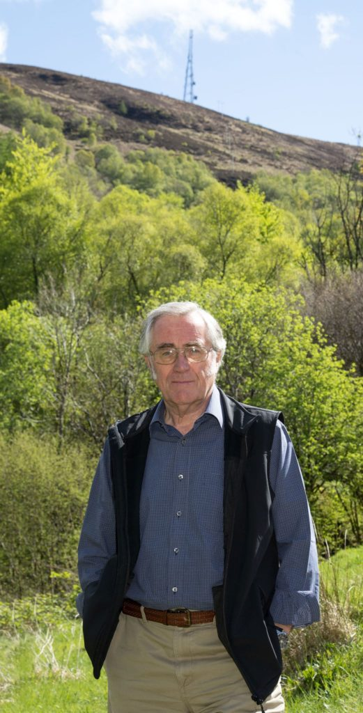 Brian Murphy, whose home looks on to Cow Hill, asked for tree cutting work to be suspended during the bird nesting season. Photograph: Iain Ferguson, alba.photos NO F20 Cow Hill tree cutting 03