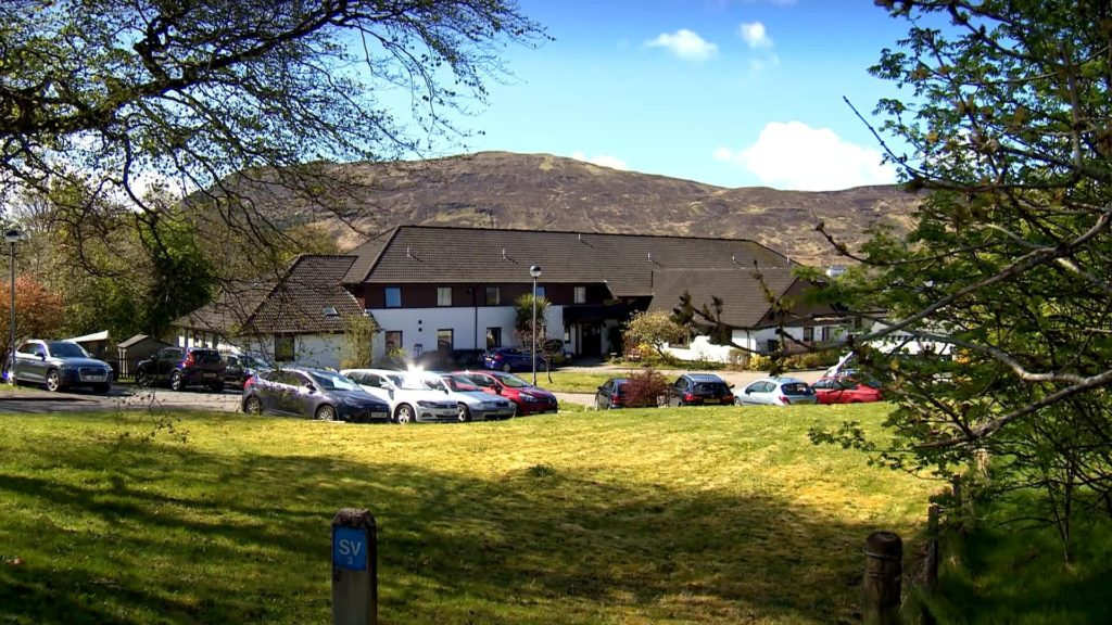 Local MP Ian Blackford wants staff at Home Farm Care Home at Portree, pictured, who test positive for the virus to receive full pay. Photograph: BBC Scotland. NO F21 Home Farm version 2