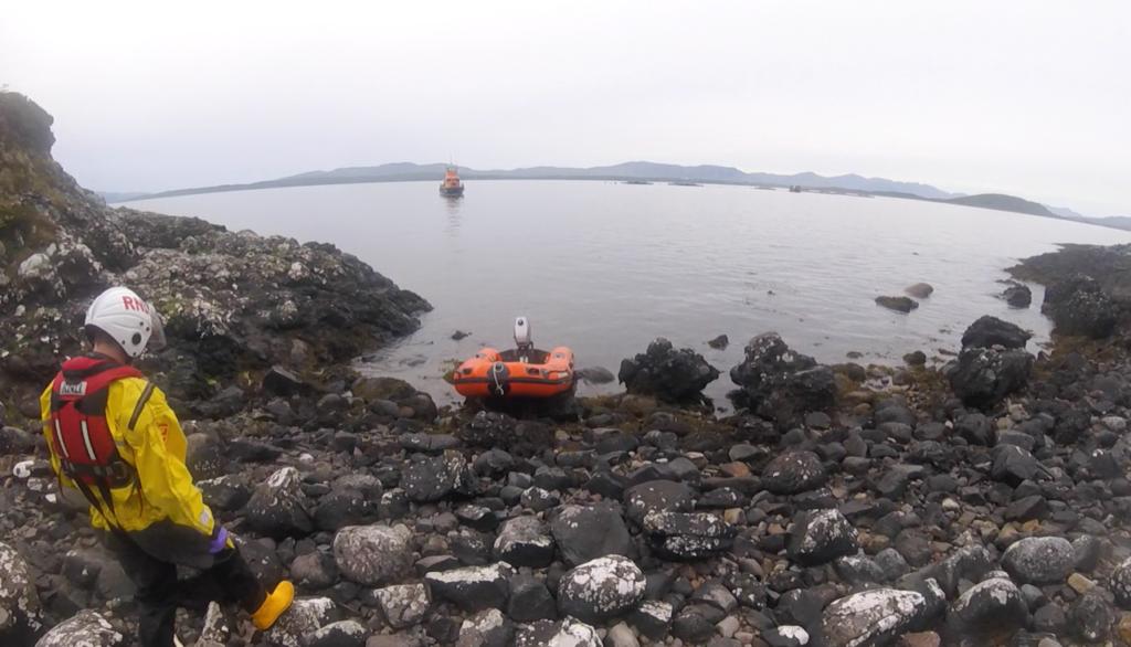 Lifeboat  rescues injured walker