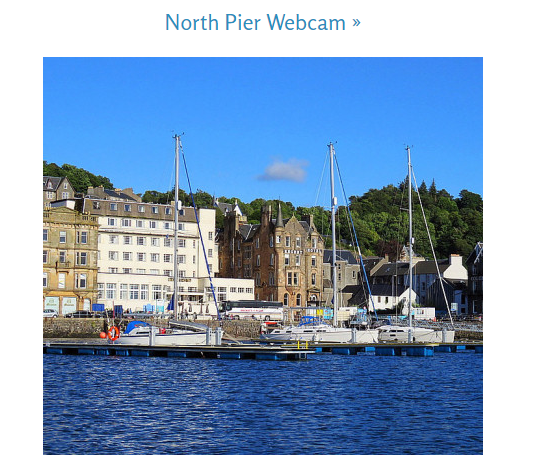 Save Oban's seafront webcams