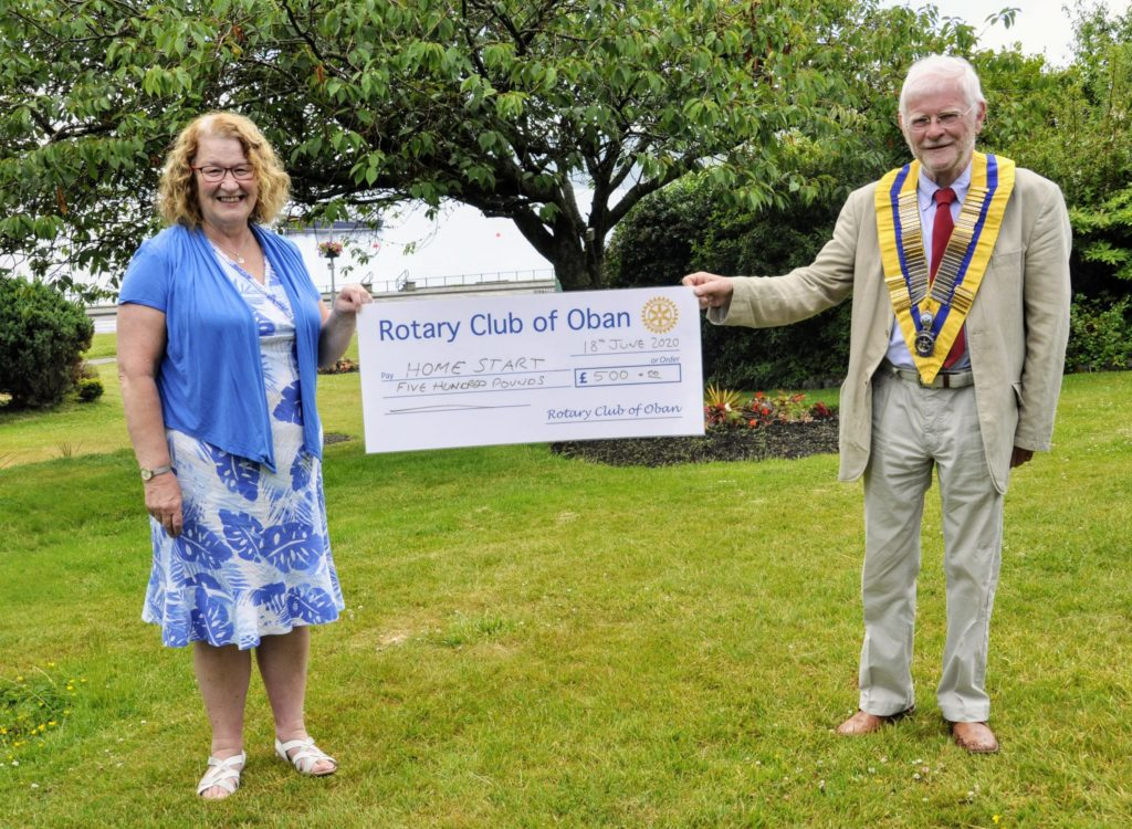 Home-Start gets help from Oban rotary