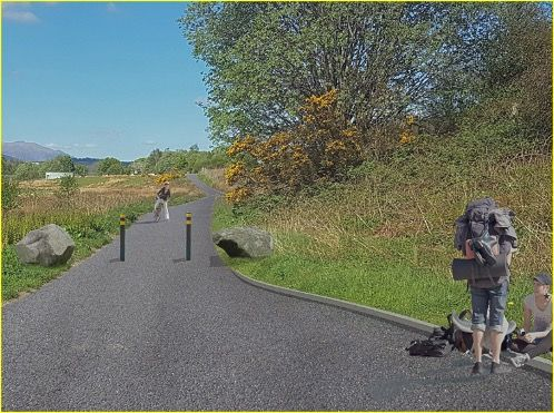 A visualisation of what the Black Parks route will look like once work is complete. NO F26 BP Visualisation