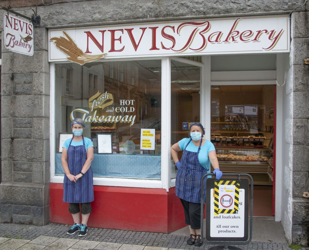 Nevis Bakery was among the shops reopening this week. Photograph: Iain Ferguson, alba.photos NO-F27-Reopening-Nevis-Bakery-02.jpg