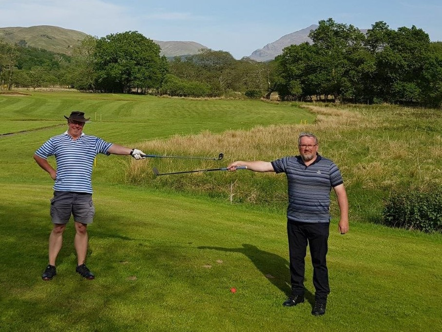 Village golfers swing into action