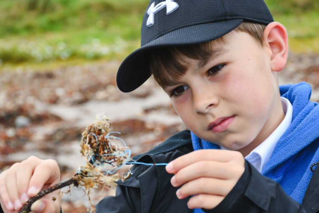 School children take note of natural environment