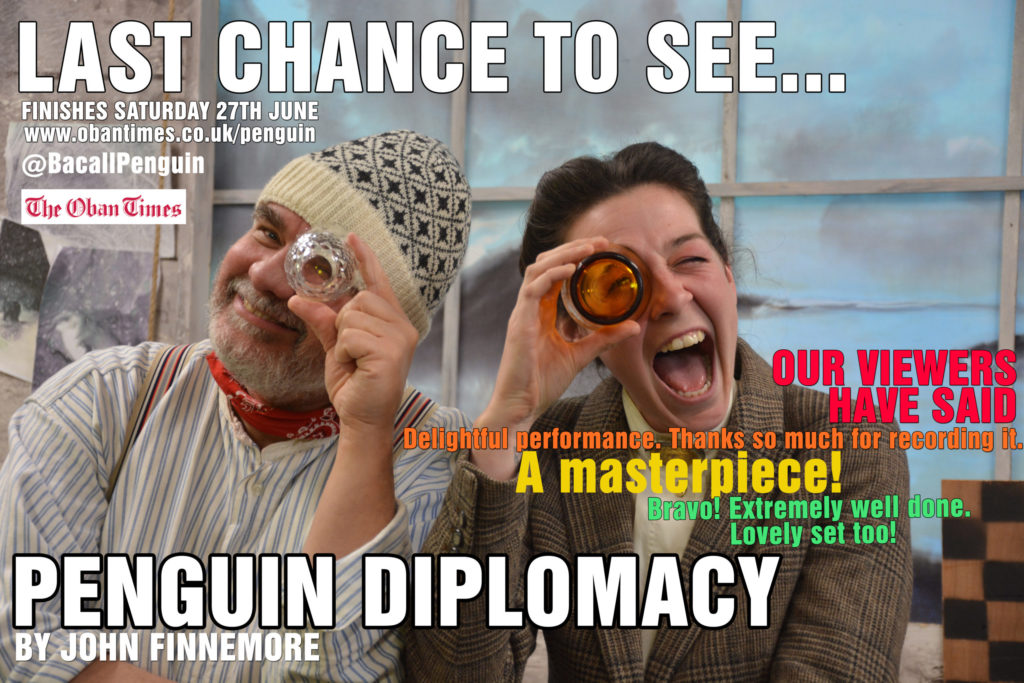 Free stream of Penguin Diplomacy, a play by John Finnemore Finishes 27th June 2020