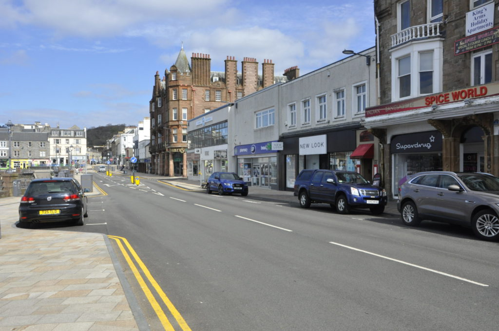 One-way pavement plan for Oban