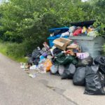 Rubbish piled up in Glen Etive at the weekend. NO F29 rubbish