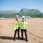 Kevin Stewart MSP (centre) on site at the new housing development last year. PHOTOGRAPH: ABRIGHTSIDE PHOTOGRAPHY. NO F31 Housing Minister Fort william housing Blar Mor (1)