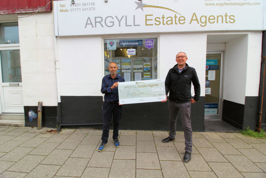 Thank you donation goes to Martyn's Monday Club