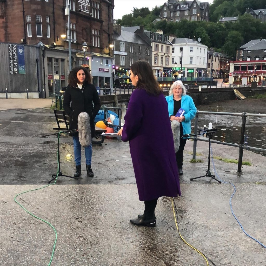 News broadcast comes live from Oban's North Pier