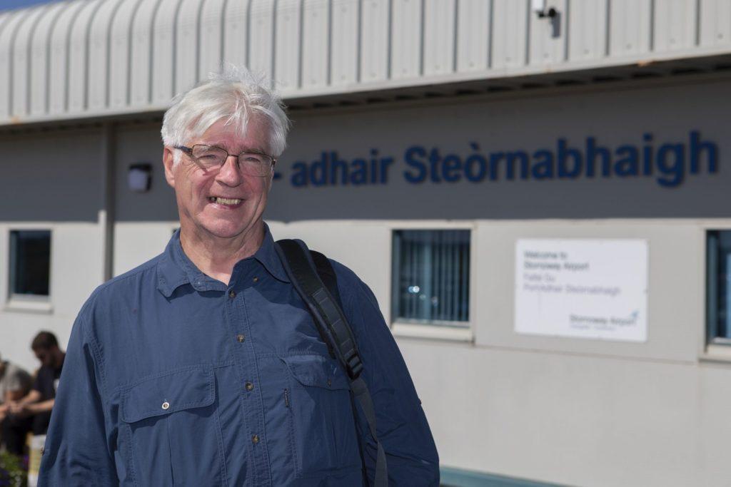 Alasdair Nicholson at Stornoway Airport this week on the first leg of his rescheduled trip to Tanzania. NO F33 Alasdair Nicholson.jpg
