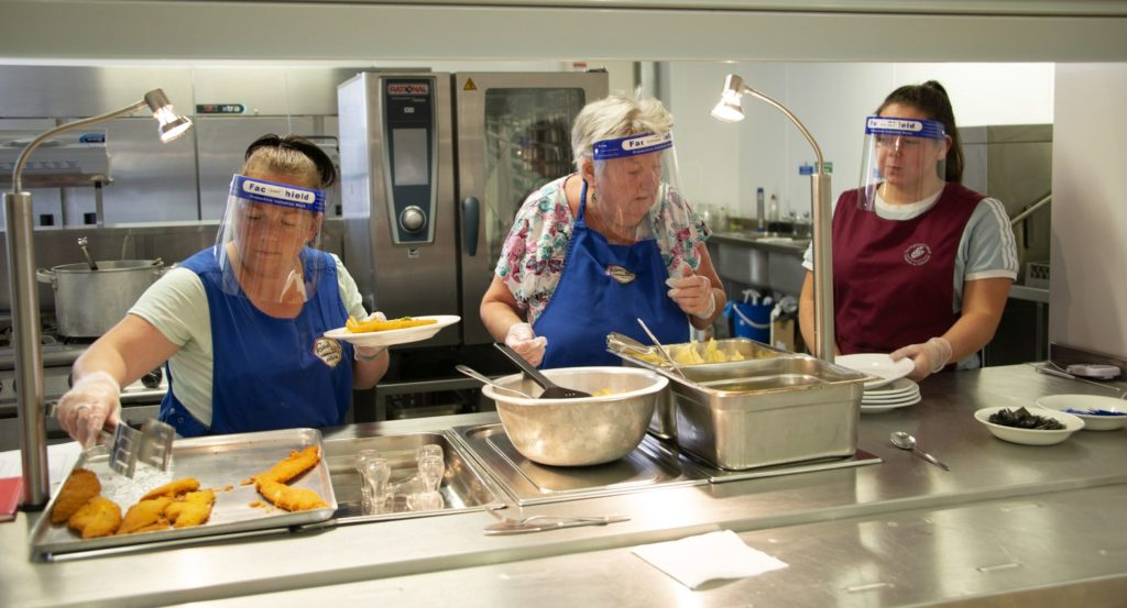 Smiles on the menu as Caol lunch club welcomes back members after five months