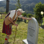 Donald Sinclair who travelled from Devon to attend the event and visit the grave of his old friend and long term games organiser, Ronnie MacKellaig. Photograph: Iain Ferguson, alba.photos NO F34 Glenfinnan Gathering 2020 01