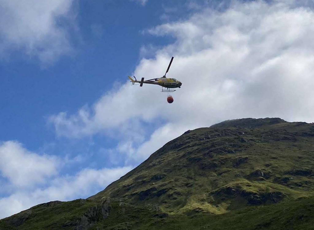 Large boulders on Rest made safe but A83 remains closed