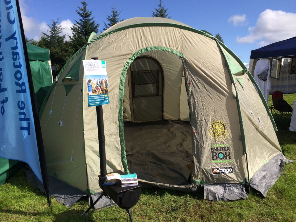 Lochaber Rotary marks 20th anniversary of ShelterBox scheme