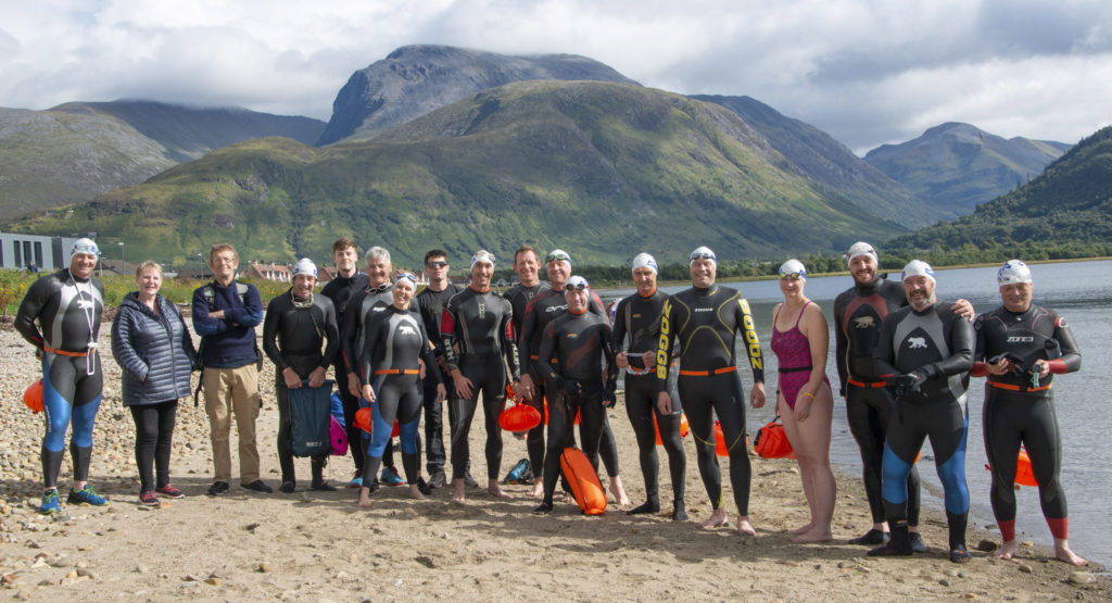 Tri-athletes take the Great Glen plunge all in the aid of charity