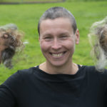 A new look for Susan Archibald after her sponsored haircut. Photograph: Iain Ferguson, alba.photos NO F37 MINDFIT FUND RAISER 02