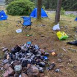 There was anger after campers visited Glen Etive at the weekend, leaving behind tents and rubbish. NO F40 Glen Etive camp site