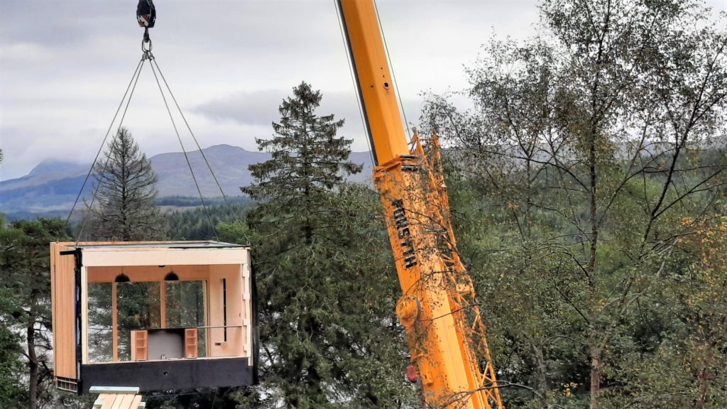 Luxury eco cabins arrive at Loch Awe