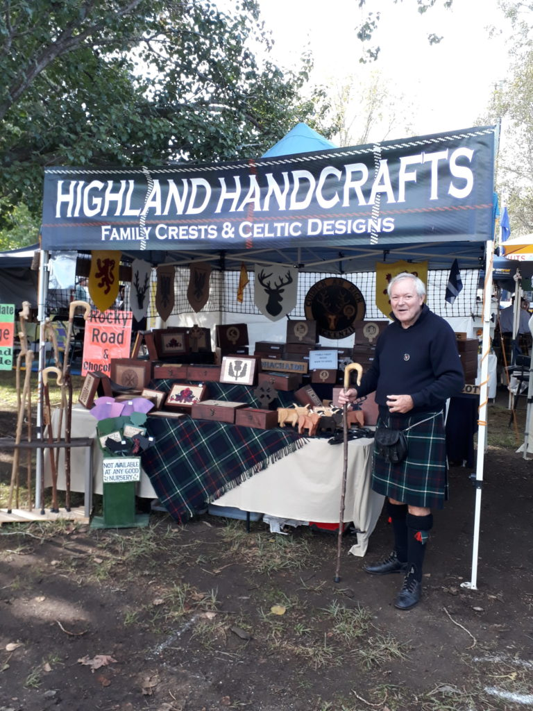 Highlander David gets crafty Down Under
