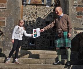 Mia wins Duart Castle's tartan competition