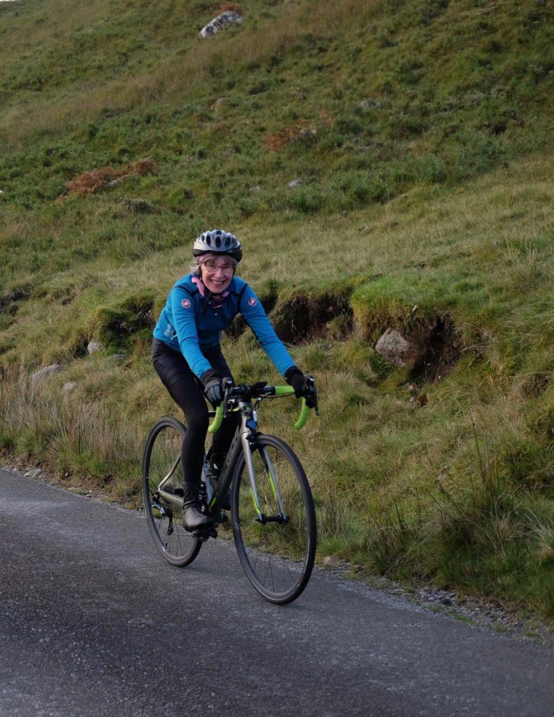 Cyclist Carol makes it up 'Everest'