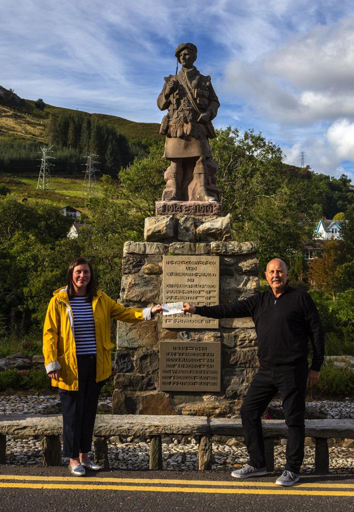 Grand Lodge's Covid challenge supports Killin project