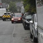 Congestion in Lochavullin Road caused by parked cars. 16_T34_lochavullinparkingrow