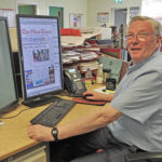 The longest serving member of staff at The Oban Times, Davie Buchanan, was given the privilege of outputting the very last front page of the newspaper in its broadsheet format. Davie, who has worked for The Oban Times for 53 years, said he would find the day an emotional one after such long service.