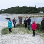 Local MSP Kate Forbes, left, visited Morar sands to see for herself problems associated with wild camping. Also pictured are, from left ,Pamela Burns (Road to the Isles Marketing Group), Sine Davis (Chair, Road to the Isles Marketing Group and owner West Highland Hotel Mallaig), Iain MacNiven (Arisaig Community Council), Sandra McLean (Mallaig Community Council) and Dave Newnham (Morar Community Council). NO F32 Morar Sands-2
