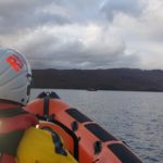 The Kyle RNLI lifeboat arrives on scene on Tuesday night. NO F42 Lifeboat arriving on scene