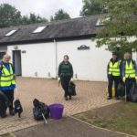 Litter picking crew ready for action. NO F42 Litter Pickers at the Visitor Centre